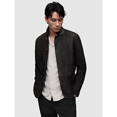 AllSaints Survey Brushed Leather Blazer