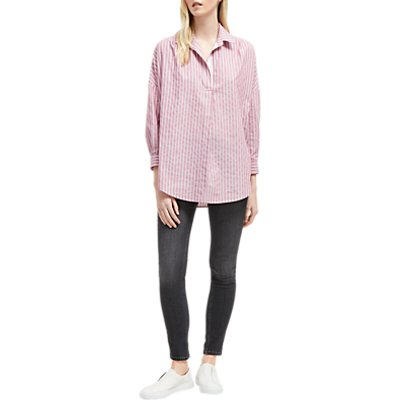 French Connection Striped Dip Hem Shirt