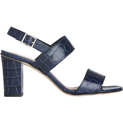 L.K.Bennett Rhiannon Croc Sandals, Blue