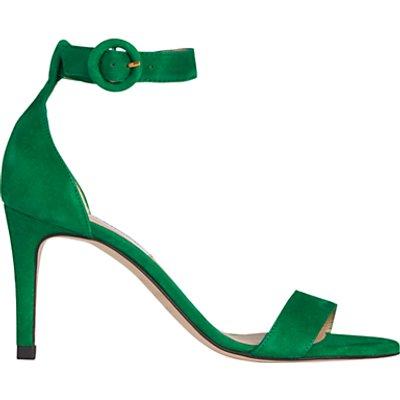 L.K.Bennett Dora Stiletto Sandals, Green Suede