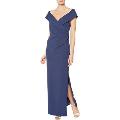 Gina Bacconi Scuba Crepe Maxi Dress