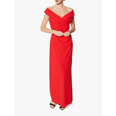Gina Bacconi Leandra Crepe Maxi Dress, Red