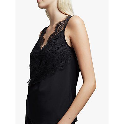 French Connection Light Woven Lace Top