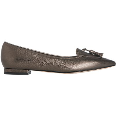 L K  Bennett Dixie Pointed Toe Loafers  Bronze - 5054760404856