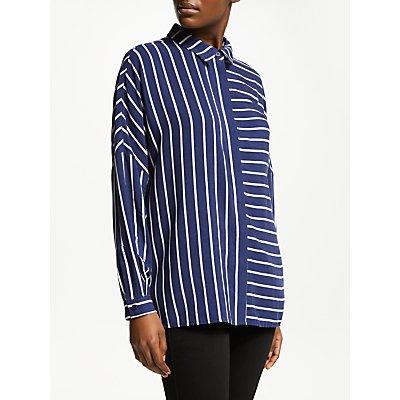 John Lewis & Partners Drop Sleeve Contrast Stripe Shirt
