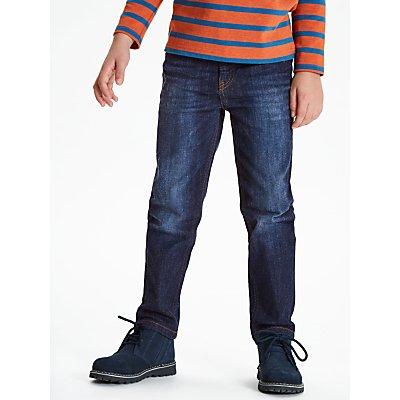 John Lewis & Partners Boys' Slim Fit Dark Wash Jeans, Blue