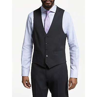 John Lewis & Partners Tailored Waistcoat, Black