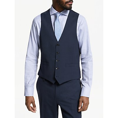 John Lewis & Partners Tailored Waistcoat, Navy