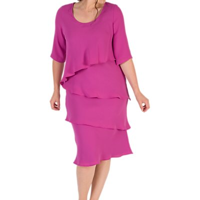 Chesca Layered Dress, Magenta