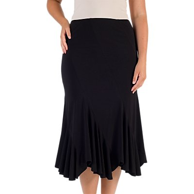 Chesca Pleat Hem Skirt, Black