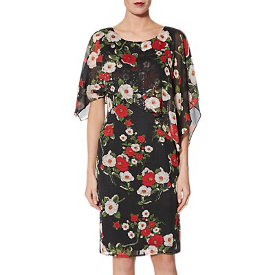 Gina Bacconi Niyla Dress, Black/Red