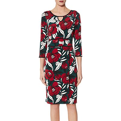 Gina Bacconi Hetty Trim Jersey Dress, Multi