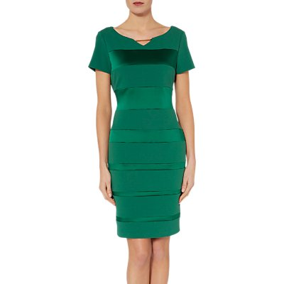 Gina Bacconi Daiva Crepe and Satin Dress