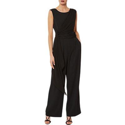 Gina Bacconi Chiffon Crepe Jumpsuit, Black
