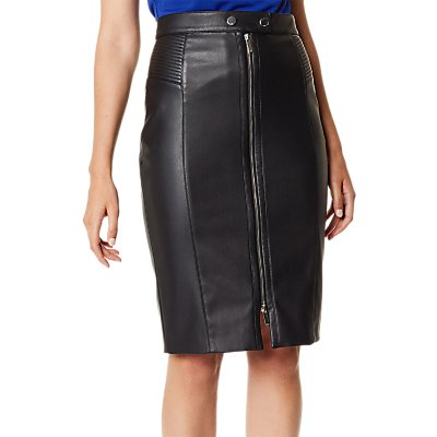Karen Millen Midi Biker Skirt, Black