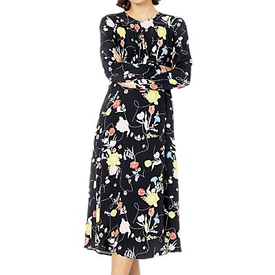 Ghost Greta Floral Midi Dress, Penny Lane