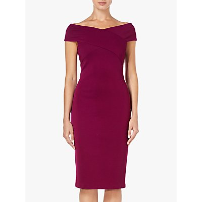 Adrianna Papell Sheath Crossover Dress, Wildberry