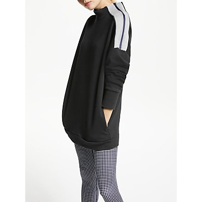 PATTERNITY + John Lewis Funnel Zip Neck Sweatshirt, Black