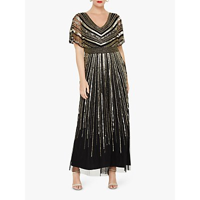 Studio 8 Avalon Beaded Maxi Dress, Black