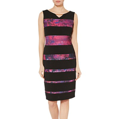 Gina Bacconi Mayra Abstract Panel Dress, Fuschia