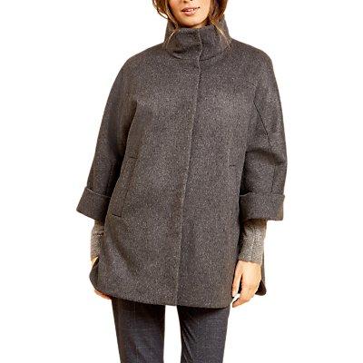 Fenn Wright Manson Petite Jocelyn Wool Cape Coat, Dark Grey