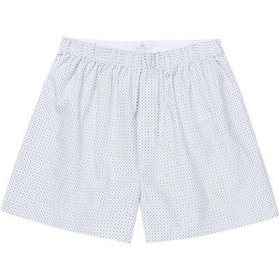 Sunspel Cotton Hex Boxers  White - 5056088934534