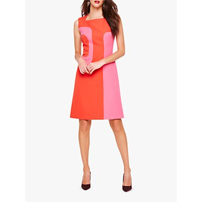 Damsel in a Dress Lucilla Block Colour Dress, Pink/Red