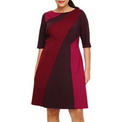 Studio 8 Colour Block Dress, Berry