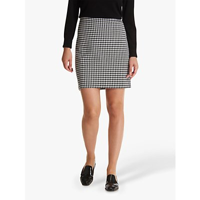Betty Barclay Houndstooth Pencil Skirt, Black/Cream