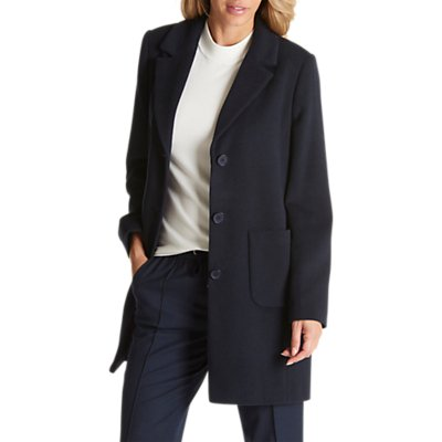 Betty Barclay Lined Pea Coat, Dark Navy