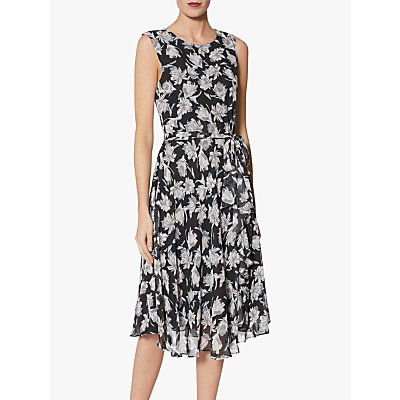 Gina Bacconi Shilah Print Dress, Black/Grey