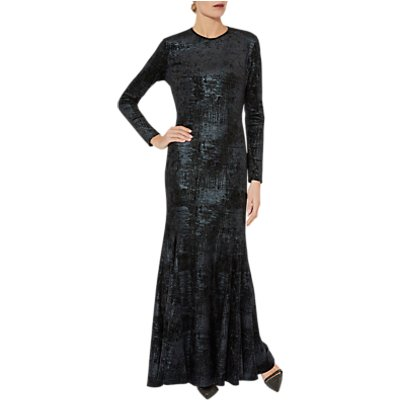 Gina Bacconi Lovetta Check Maxi Dress, Black