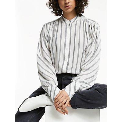 AND/OR Usher Stripe Easy Shirt, Black/Ivory
