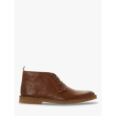 Bertie Castle Leather Desert Boots, Tan