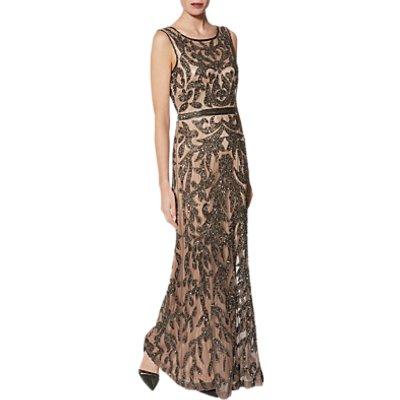 Gina Bacconi Evalie Maxi Dress, Pewter