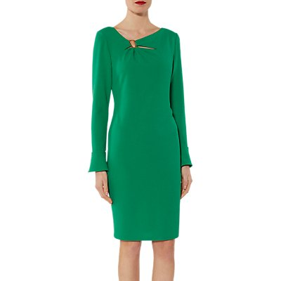 Gina Bacconi Nelly Scuba Flute Sleeve Dress