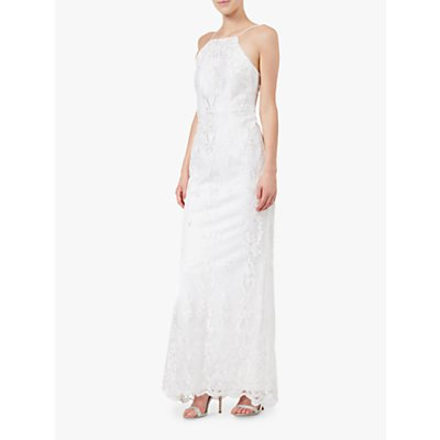 Adrianna Papell Embroidered Tulle Gown, Ivory