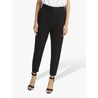 French Connection Whisper Ruth Tapered Trousers, Black