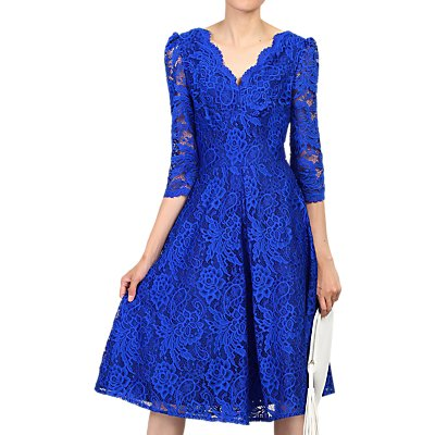 Jolie Moi Three Quarter Sleeved Lace Dress