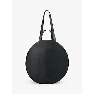 hush Ines Leather Shopper Grab Bag, Black