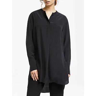 Modern Rarity Silk Tunic Top, Grey