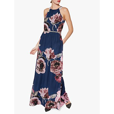 Gina Bacconi Avis Floral Dress, Blue