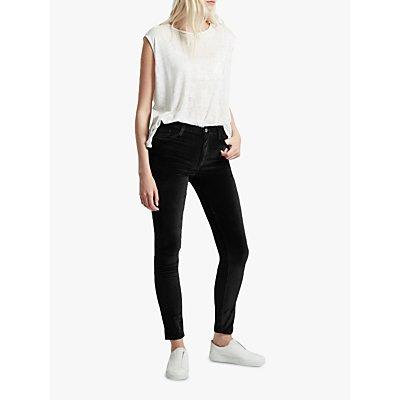 French Connection Velvet High Rise Skinny Jeans - 889042821169
