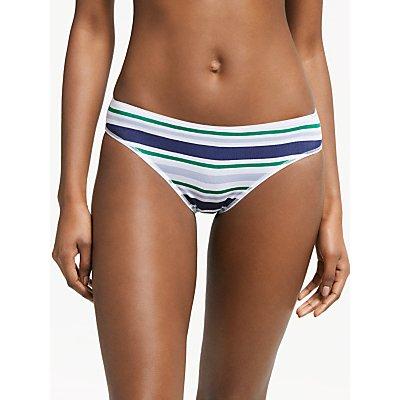 John Lewis & Partners Bold Stripe Bikini Briefs, Pack of 5, Blue/Multi