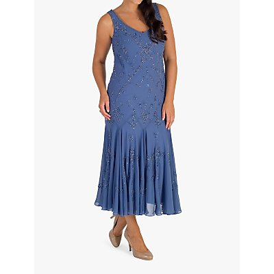 Chesca Iris Beaded Dress, Blue