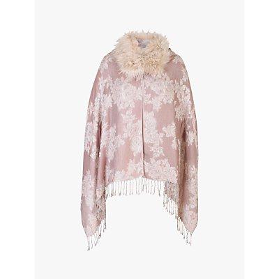 Chesca Jacquard Design Shawl, Pink