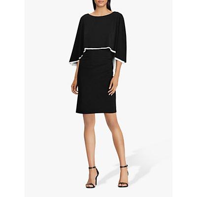 Lauren Ralph Lauren Abriel Cape Dress, Black/Lauren White