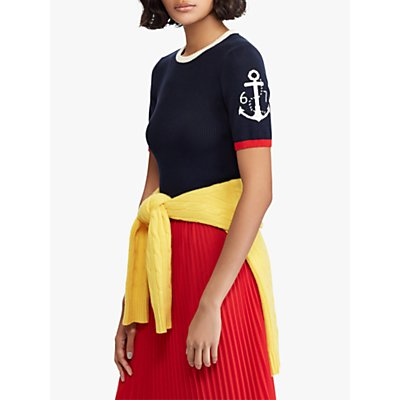 Polo Ralph Lauren Anchor Short Sleeve Sweatshirt, Navy