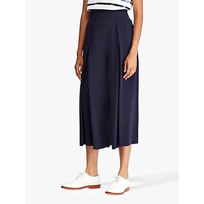 Polo Ralph Lauren Pleated Wide Leg Trousers, Royal Navy
