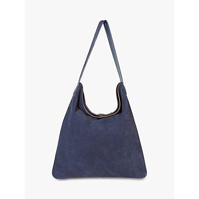 Gerard Darel Lady Leather Shoulder Tote Bag, Blue
